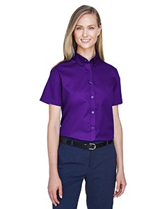 78194 Core 365 Ladies' Optimum Short-Sleeve Twill Shirt 12-24 pcs.